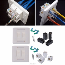 Wall Plate 4 Ports CAT5e/CAT6 RJ45 Jack Network Socket 86mm Standard Wall Plate high Quality