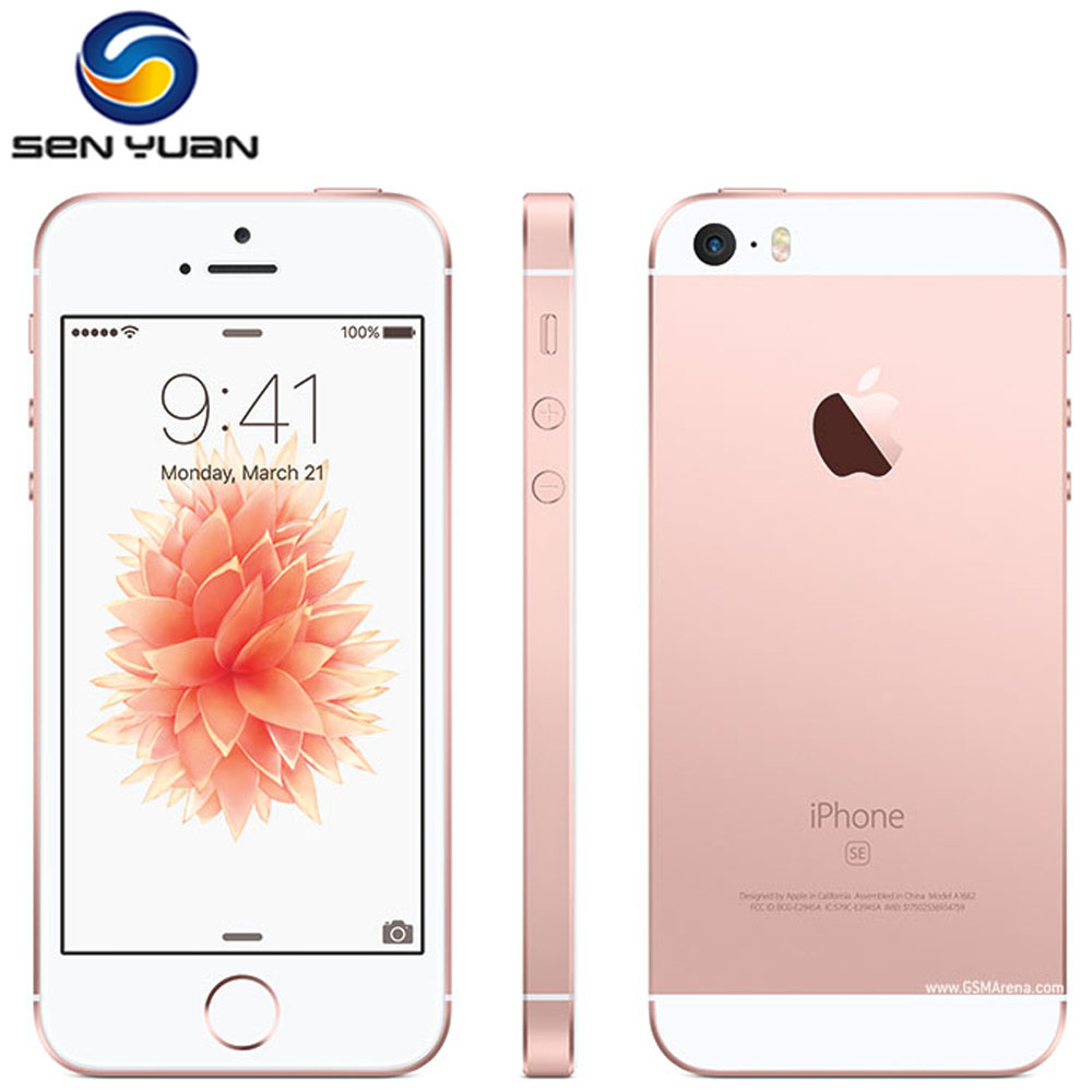 "iPhone SE A1662 A1723 Dual-core 2GB RAM 16GB/32GB/64GB/128GB ROM 4.0"" Unlocked Apple 5SE SE Fingerprint Original Mobile  Phone(China)"