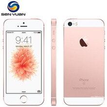 Б/у разблокированный Apple iPhone SE, определение отпечатка пальца двухъядерный 4 аппарат не привязан к оператору сотовой связи смартфон 2 Гб Оперативная память 16 Гб/64/128 ГБ Встроенная память за счет сканера отпечатков пальцев мобильного телефона