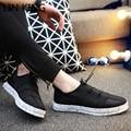 LIN REY de Los Nuevos Hombres Zapatos Casuales Nuevo Otoño Zapatos de Cuero de Tamaño Nreathable Masaje Zapatos de Ocio Al Aire Libre Los Hombres de Moda Masculina pisos