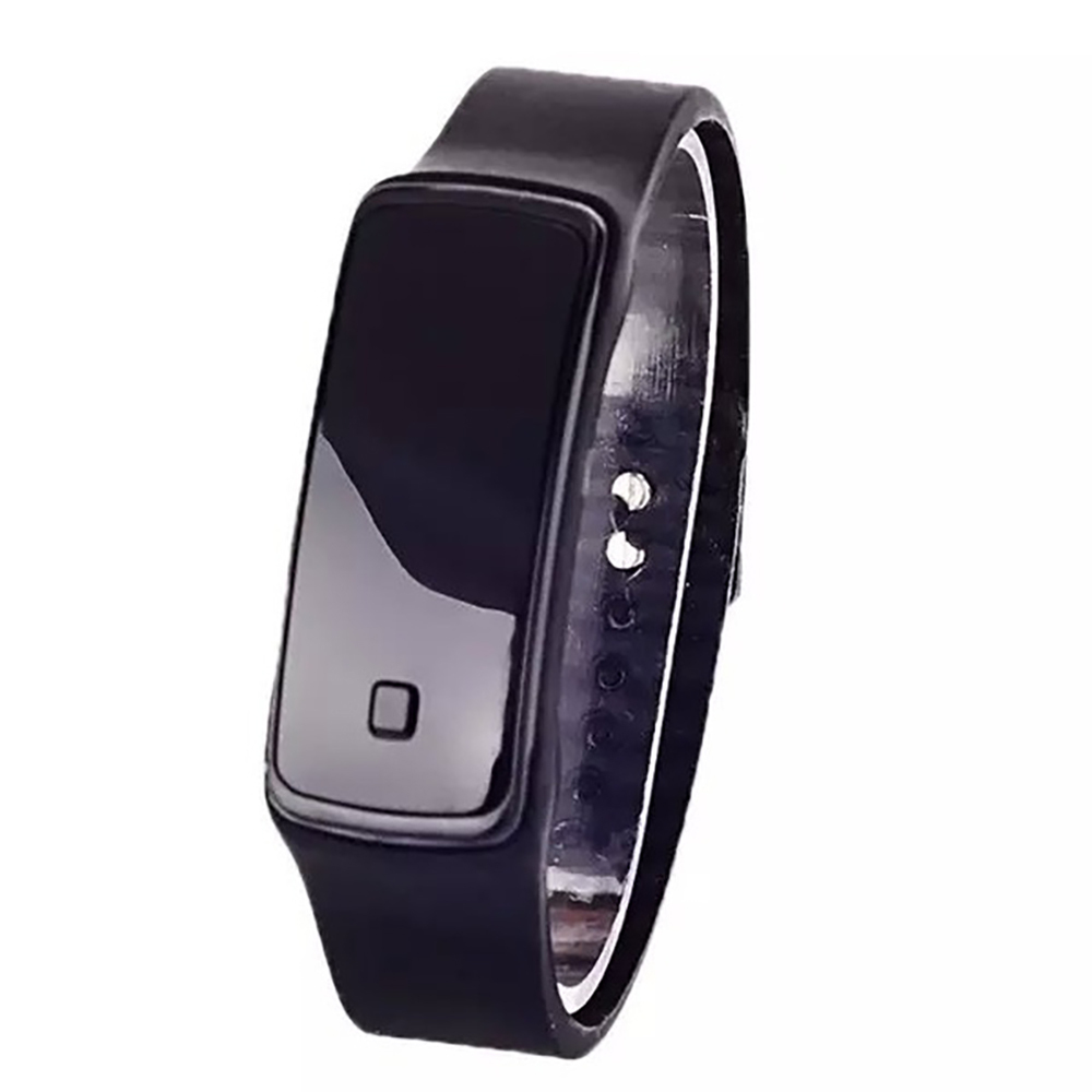 Womens Men Watches Silicone Band Digital LED Bracelet Wristwatch Sports Running Watches Unisex Black Fashion  Casual