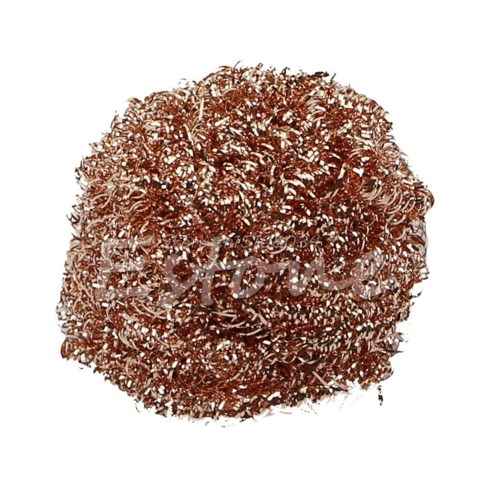 New Welding Soldering Solder Iron Tip Cleaner Cleaning Steel Wire Sponge Ball New S08 Drop ship brand new 1pcs wire with stand set welding soldering solder iron tip cleaner cleaning steel hot selling