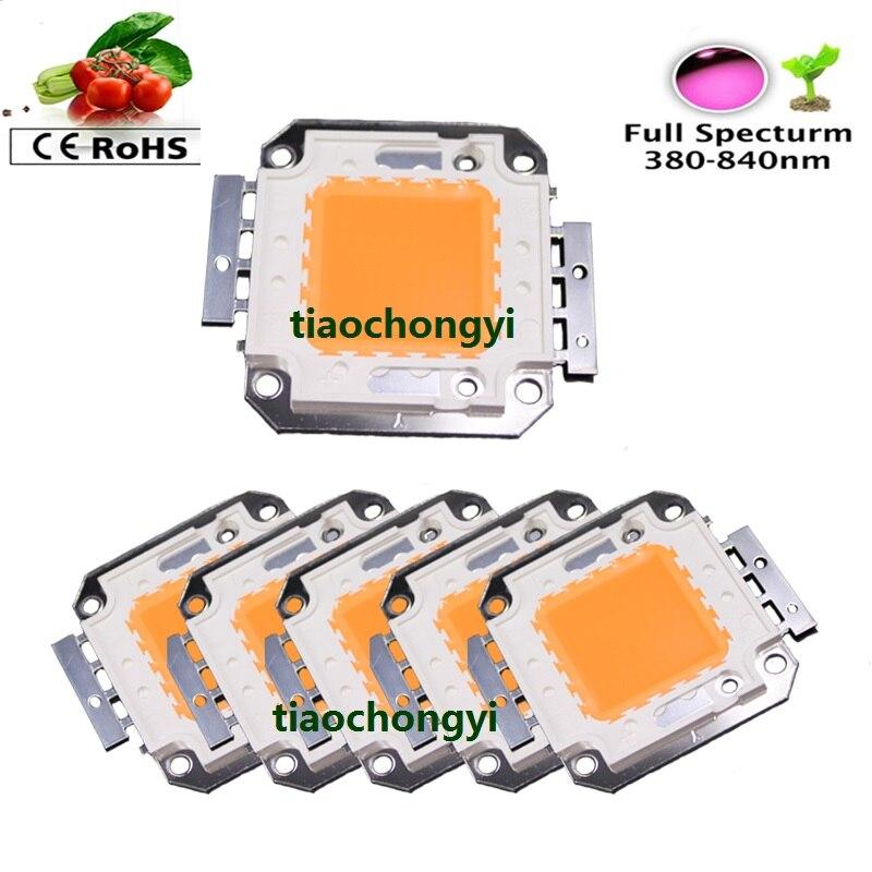 ᗖ1-50X 100W Plant Grow Full Spectrum 380-840nm High Power LED Lamp ...