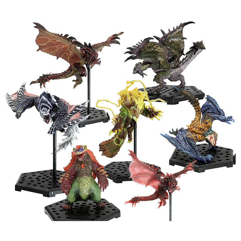 Monster Hunter World Game Tigrex Dragon Model Collectible Action Figure Monster Hunter <font><b>XX</b></font> <font><b>Toy</b></font> Gift image