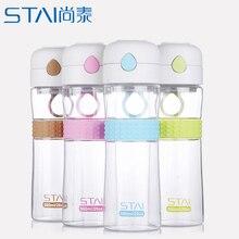 580 ml A Prueba de Fugas botella de agua vaso Transparente de Gran Capacidad Botella de Agua Potable Para Mis Deportes Al Aire Libre botellas de Jugo