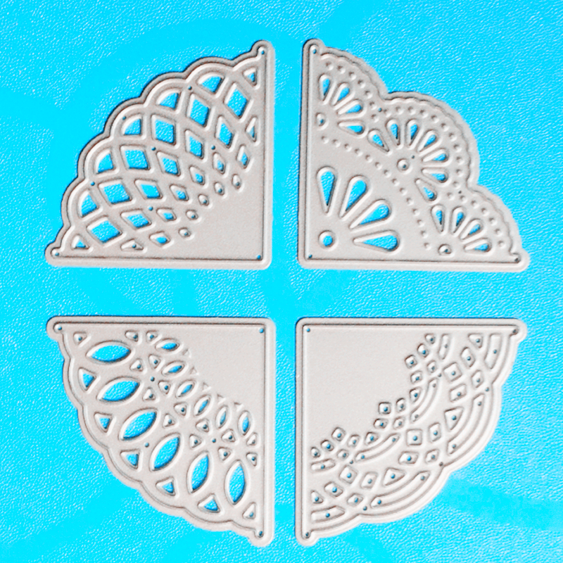 YLCD766 Corner Lace Metal Cutting Dies For Scrapbooking Stencils DIY Album Paper Decoration Decoration Embossing Folder Die Cuts Tool