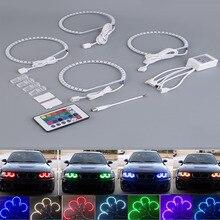 2017 hot 4 stücke E36 E38 E39 E46 RGB 4*131 MM Multi-color 5050-LED Auto ANGEL EYES Scheinwerfer Ringe kit für BMW heißer verkauf