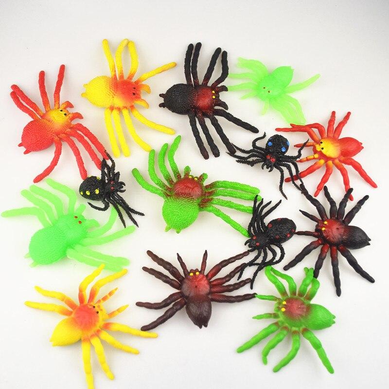 Halloween Novel Black TPR Simulation Spider Shaped Rubber Kids/Children Toy