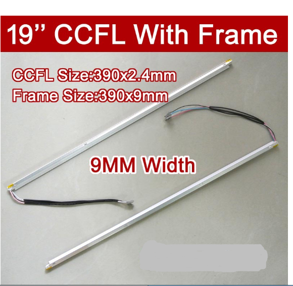 2PCS 19'' Inch Dual Lamps CCFL With Frame,LCD Monitor Lamp Backlight With Housing,CCFL With Cover,CCFL:385mmx2.4,FRAME:390mmx9mm