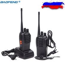 2 pièces Baofeng BF 888S talkie walkie bf 888s 5W radio bidirectionnelle Portable CB Radio UHF 400 470MHz 16CH Radio pratique professionnelle