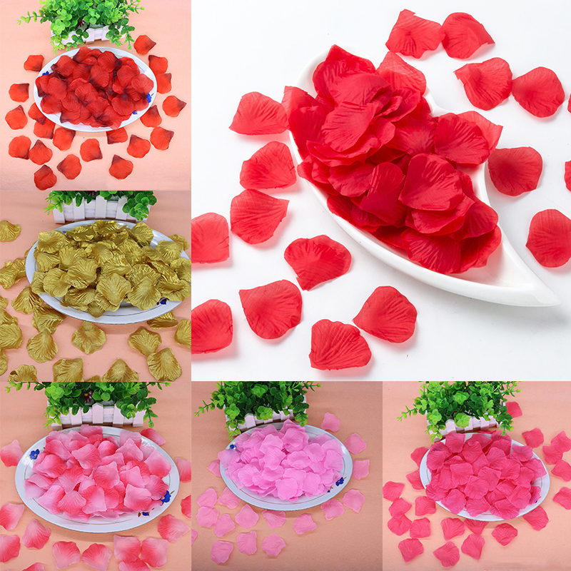 New 2000pcs Silk Fabric Rose Petals For Wedding Decoration