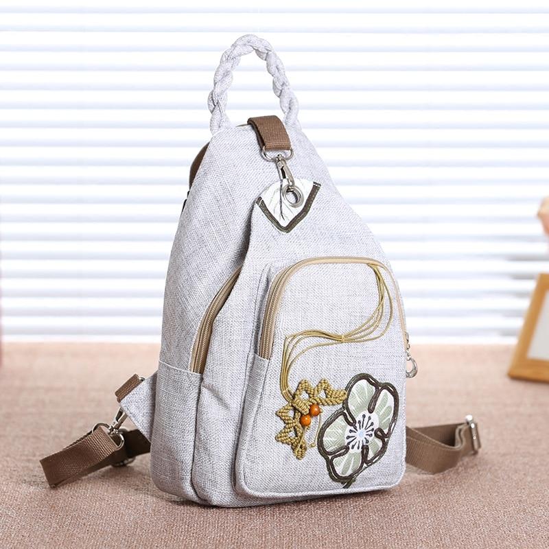 2019 estilo chino mochila mujer nacional pintado a mano bolso casual bolsas para chica mujer paisaje flor bolsa-in Mochilas from Maletas y bolsas    2