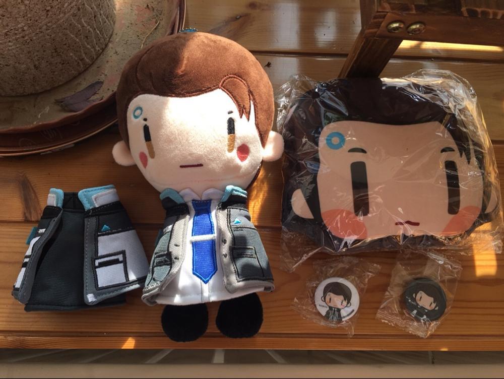 Limite Detroit: devenez humain Connor peluche poupée + 2 pièces vêtements mignon jouet JK porte-clés 20 cm cadeau de noël