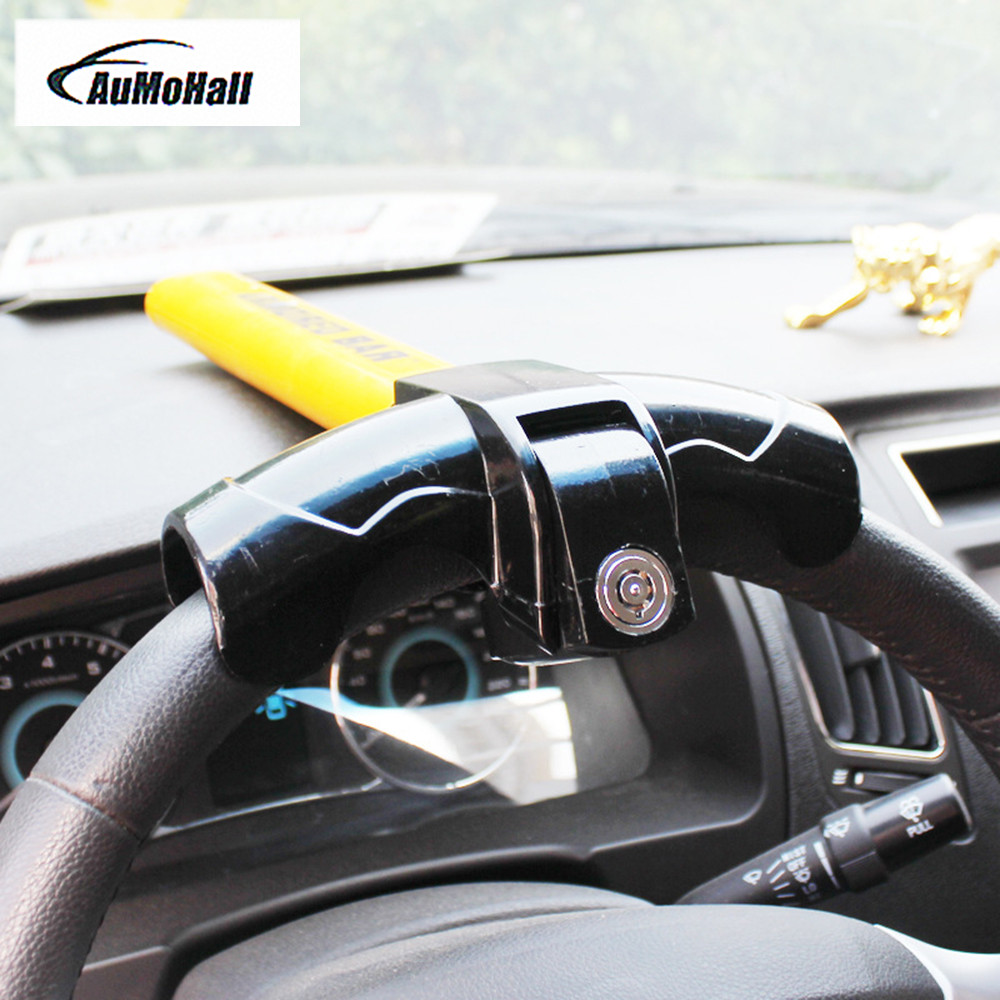Anti-Theft Steering Wheel Lock Car/Van Security Rotary Steering Wheel Lock-High Visibility New Style Lock for Car ...
