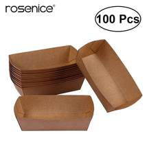 100 Pcs Craft Paper Box Candy Cookies Cake Package Wedding Favor Boxes DIY Gifts Candy Chocolate Sweets Party Box(China)