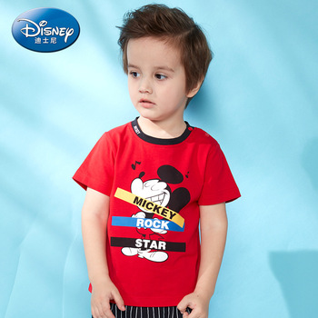 Disney children's clothes boys T-shIrt dress knitted Short-sleeve tshirt 2019 Summer Mickey fashion pure cotton camiseta t shirt