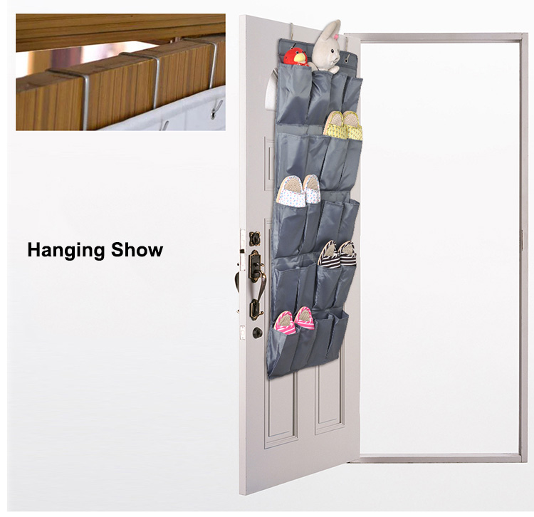 Hanging Jewelry Organizer Over Door Cloth Shoe Ganchos Para Parede