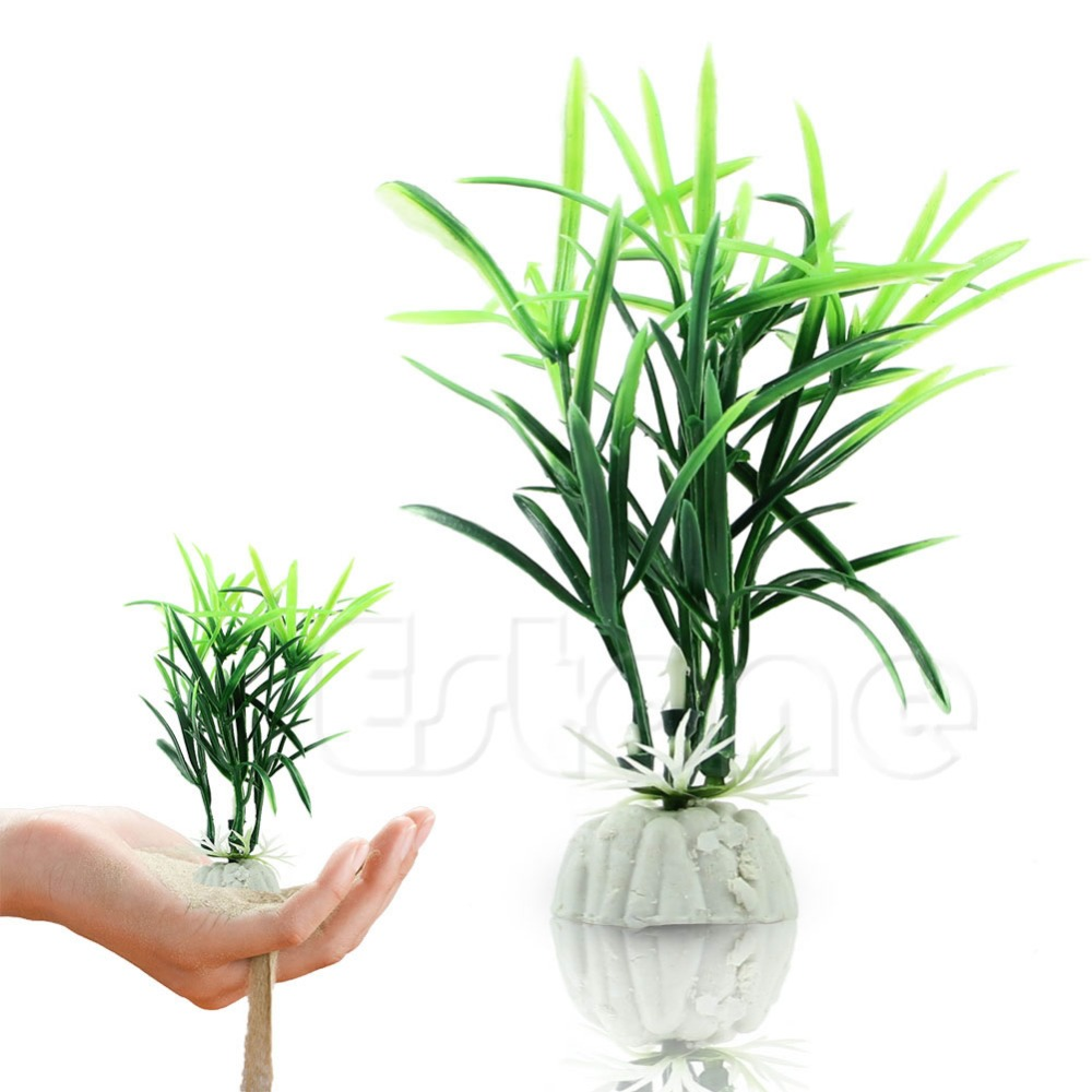Fish aquarium and good luck - 1pc Fish Tank Short Paragraph Lucky Bamboo Artificial Water Plants Ornament Good Quality