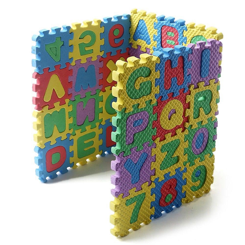 36Pcs Baby Child Number Alphabet Foam Maths Educational Toy Gift Bubble Puzzle Mats Digital Children Intelligence Development