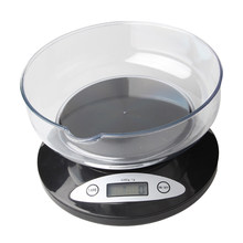 5000g * 1g Balance Kitchen Weight Digital Scale LCD Display Electronic Weighing Tools Parcel Food Diet With Bowl Measuring