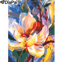 DIAPAI 100% Full Square/Round Drill 5D DIY Diamond Painting Flower landscape Diamond Embroidery Cross Stitch 3D Decor A19454 diapai 100% full square round drill 5d diy diamond painting flower landscape diamond embroidery cross stitch 3d decor a21095
