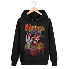 4 designs 3D Skull Bone Sudadera Misfits Rock hoodies Winter jacket brand clothing punk heavy metal print pollover Sweatshirt
