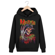 4 tasarımlar 3D kafatası kemik Sudadera Misfits kaya hoodies kış ceket marka giyim punk ağır metal baskı kazak kazak