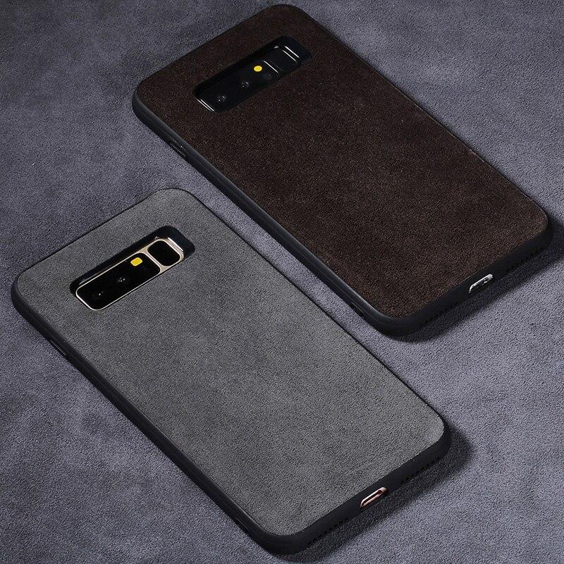 Caja del teléfono para Samsung Galaxy Note 8 9 S7 borde S8 S9 más A5 A7 A8 2018 J5 J6 J7 2017 carcasa de cuero