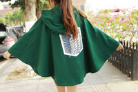 Hot Anime Attack On Titan Levi Cosplay Cloak Cool Cos Cloak Free Shipping