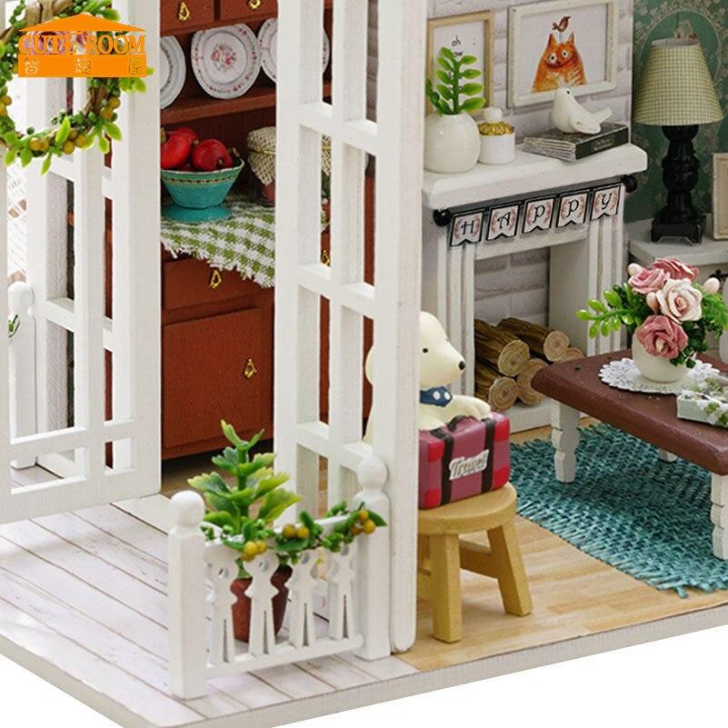 Cuteroom DIY Hölzernes Spielzeughaus Miniatur 3D Holz Puzzle Puppenhaus  Amerikanischen Retro Stil Holz Haus Puppe Für Kind Christimas Geschenke In  Cuteroom ...
