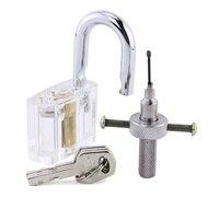 Disc Detainer Lock Bump Key Tool Locksmith Tool With Metal Disc Type Padlock For Locksmith Training