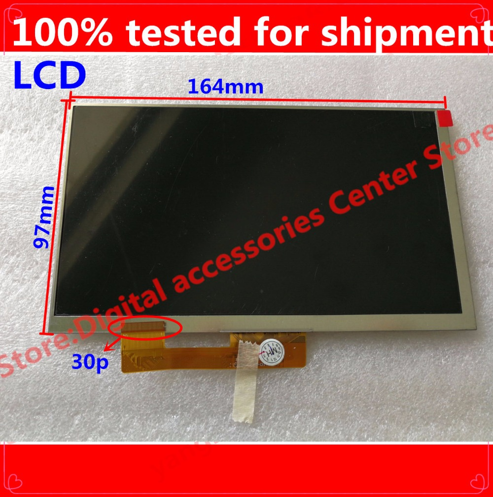 HZ Free Shipping 7 Inch LCD Screen,100% New For Digma Plane 7535E 3G PS7147MG Display,Tablet PC For 30pin  LCD Screen