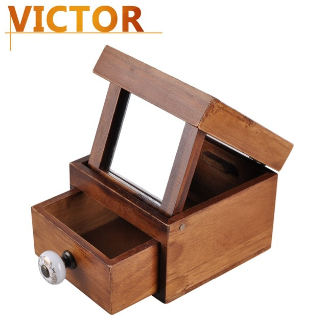 Retro Classic wedding Decoration Wooden Jewelry Box Holder Organizer