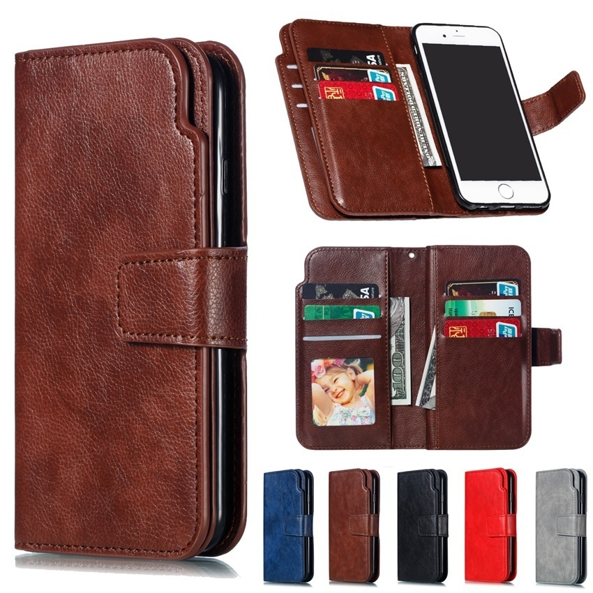 Retro PU Leather Case For Huawei P8 P9 P10 P20 P30 Mate 20 10 lite Pro 2017 P Smart Multi Card Holders Wallet Cases Cover Shells