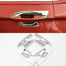 Car Accessories Exterior Decoration ABS Chrome Door Handle Bowl Cover Trim With For Volkswagen Tiguan L 2016 Car Styling цены
