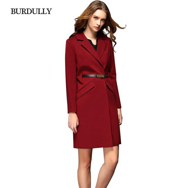 2017 Мода Зима Европейский Черный Красный Плащ Для Женщин Haute Qualite Женский Осень Теплая Ветровка Пальто Весна Clothing