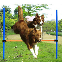 Pet Dogs Outdoors Games Exercise Training Equipment Agile Barrier Bar Pet Training Toys Dogs Jump High Toys Pet Toy Sports 2017