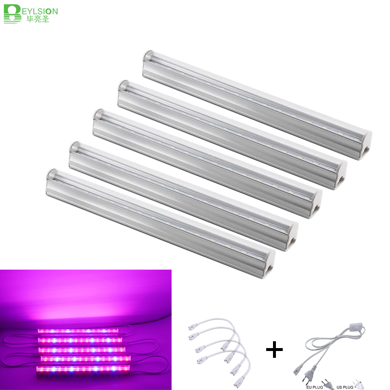BEYLSION Red Blue 30W T5 Integrated LED Plant Grow Tube Lights AC85 265V 30cm Tube Grow