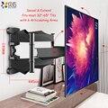 Articular 6 braços tv suporte de inclinação de movimento completo suporte de parede de tv montagem em rack de parede para 32