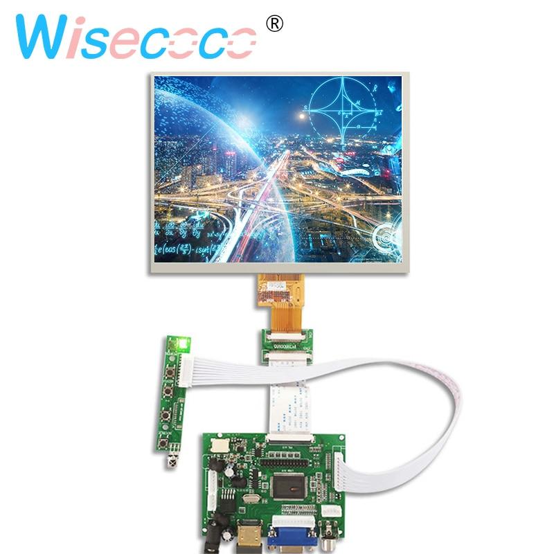 "HDMI//VGA//AV Control Driver Board 8/""inch HE080IA-01D 1024*768 IPS LCD Display"