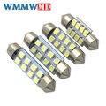 WMMWMD 2 шт. супер яркий 31 мм, 36 мм, 39 мм, 41 мм 8 SMD 1210 салона Купол гирлянсветодио дный да светодиодные лампочки лампы белый лампа для чтения DC 12 В в - фото