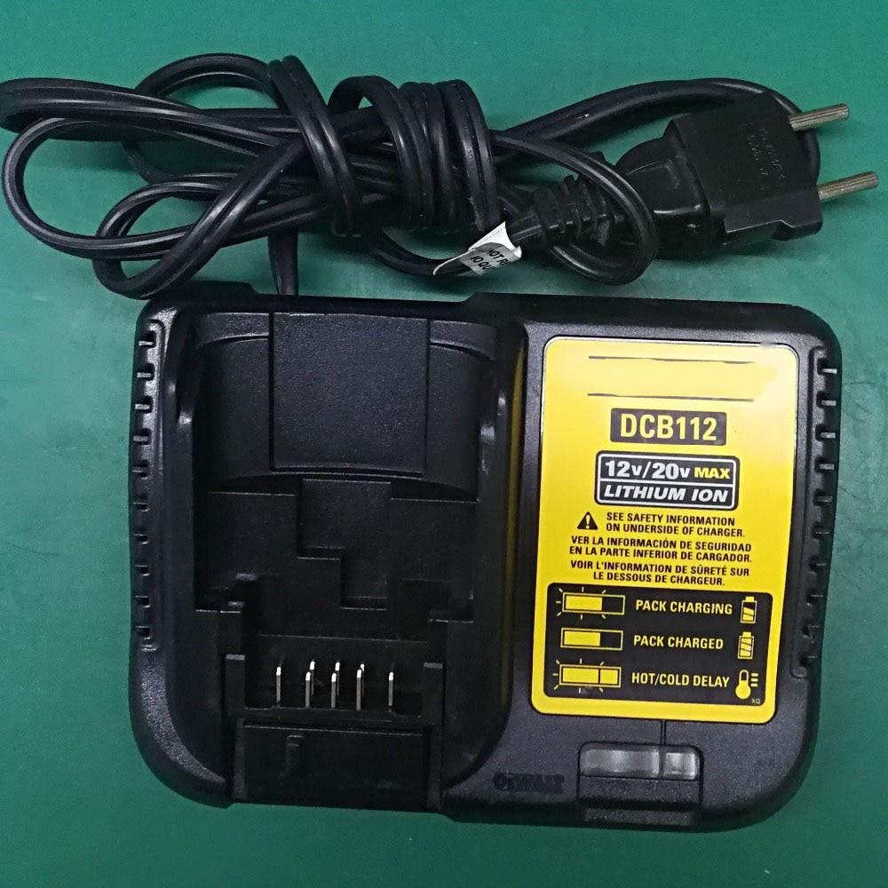 DCB112 Power Tool Accessory Original Used Li-ion Battery Charger For DeWalt 12V - 20V Serise Li-ion Battery 2 pcs power tool battery charger for dewalt dcb101 dcb105 dcb200 dcb201 d 65510 new 20 v li ion free shipping