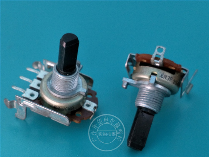 Original new 100% 161 Type horizontal single potentiometer C20K 4pin handle with threads 20MMF (SWITCH) image