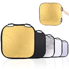 Meking 100*100cm/42 5in1 Portable Reflector Light Square Collapsible conrol with carrying bag