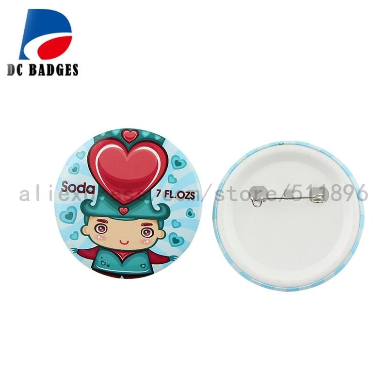 """Venta al por mayor de 2,2 """"(56mm) Material del botón de 1.000 Pinback, componentes del botón de estaño-in Botones y partes de insignias from Hogar y Mascotas    1"""