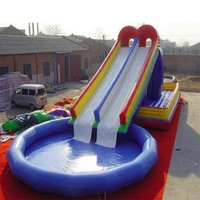 High quality PVC Swimming Pool Inflatable Water Swimming Pool Slide