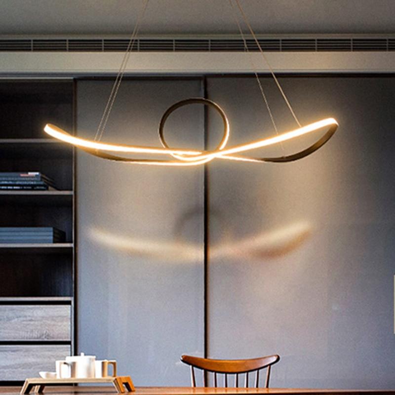 Creative modern LED pendant lights For Kitchen Room Living Room suspension hanging Pendant lamp for dinning room Bar цена