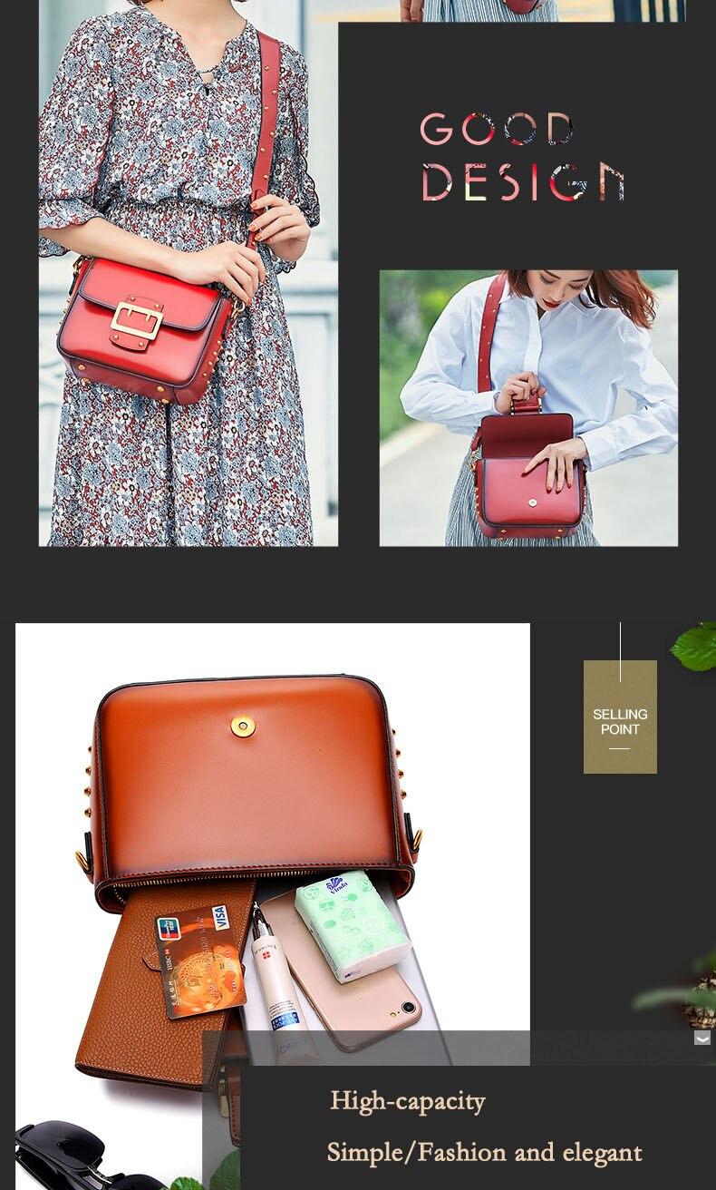 Vintage Real Leather Wide shoulder strap Handbag premium quality fashion genuine leather Shoulder Bags of Famous Brand (5)