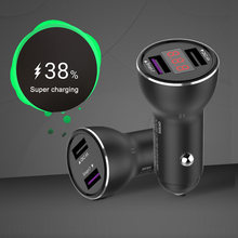 Supercharge USB Car Charger 2 Port Smart FCP Fast Charger For HUAWEI Mate 8 9 10 Pro P10 Plus P20 Honor 8 V8 9 V9 V10 Nova 2S 3E(China)