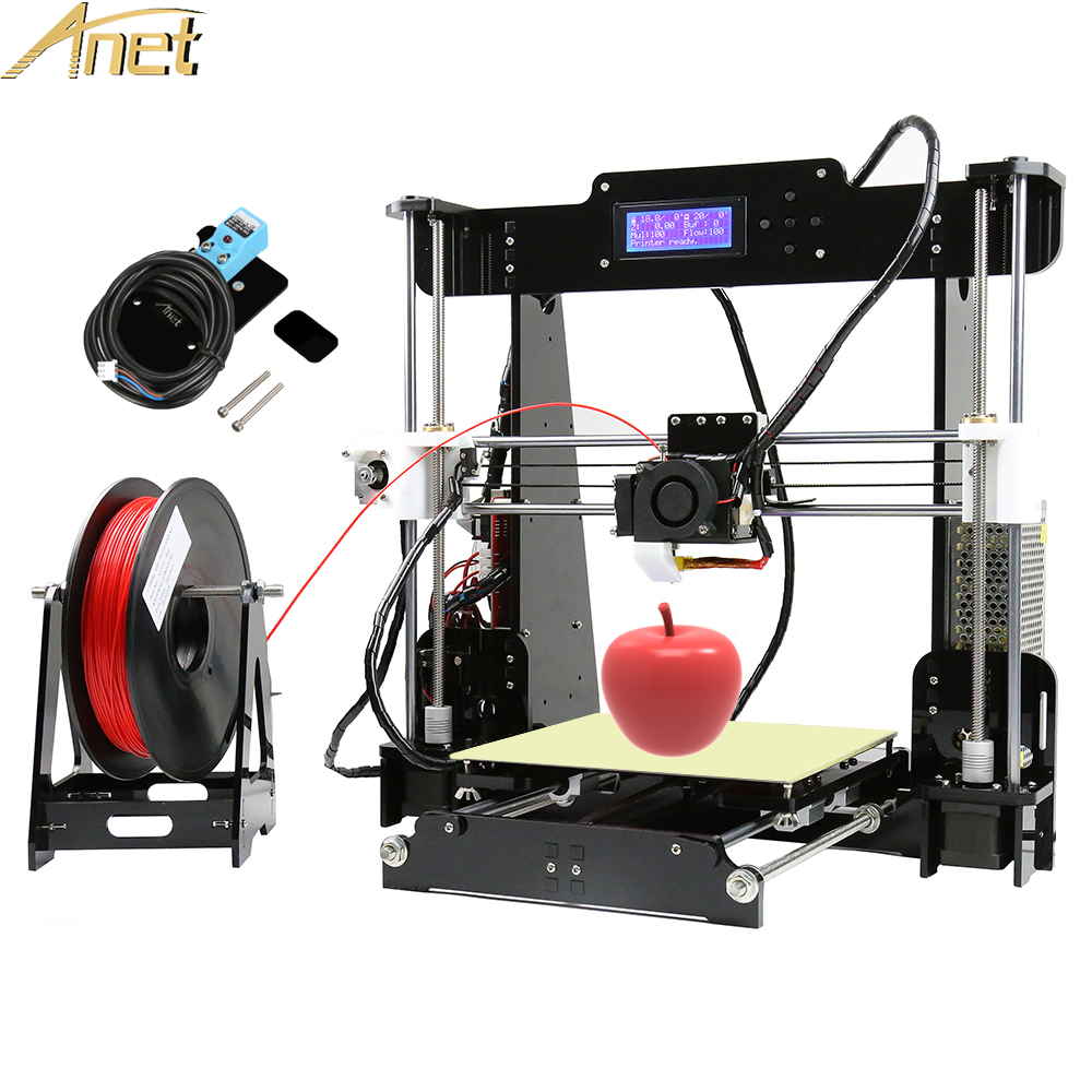 2017 Anet A8 impressora 3d printer Auto leveling Upgrade Reprap i3 3D Printer kit DIY Aluminum Hotbed Free PLA/ABS Filament easy assemble anet a6 a8 impresora 3d printer kit auto leveling big size reprap i3 diy printers with hotbed filament sd card